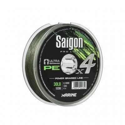 SAIGON X4 0.28mm 40lb 100m VERDE Marine Sports